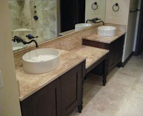 Modern sinks and vanity
