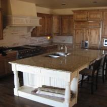 Large kitchen center isle - granite