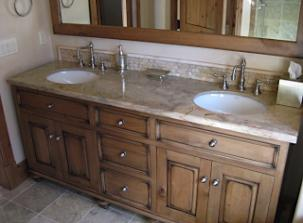 Vanity with sink duo